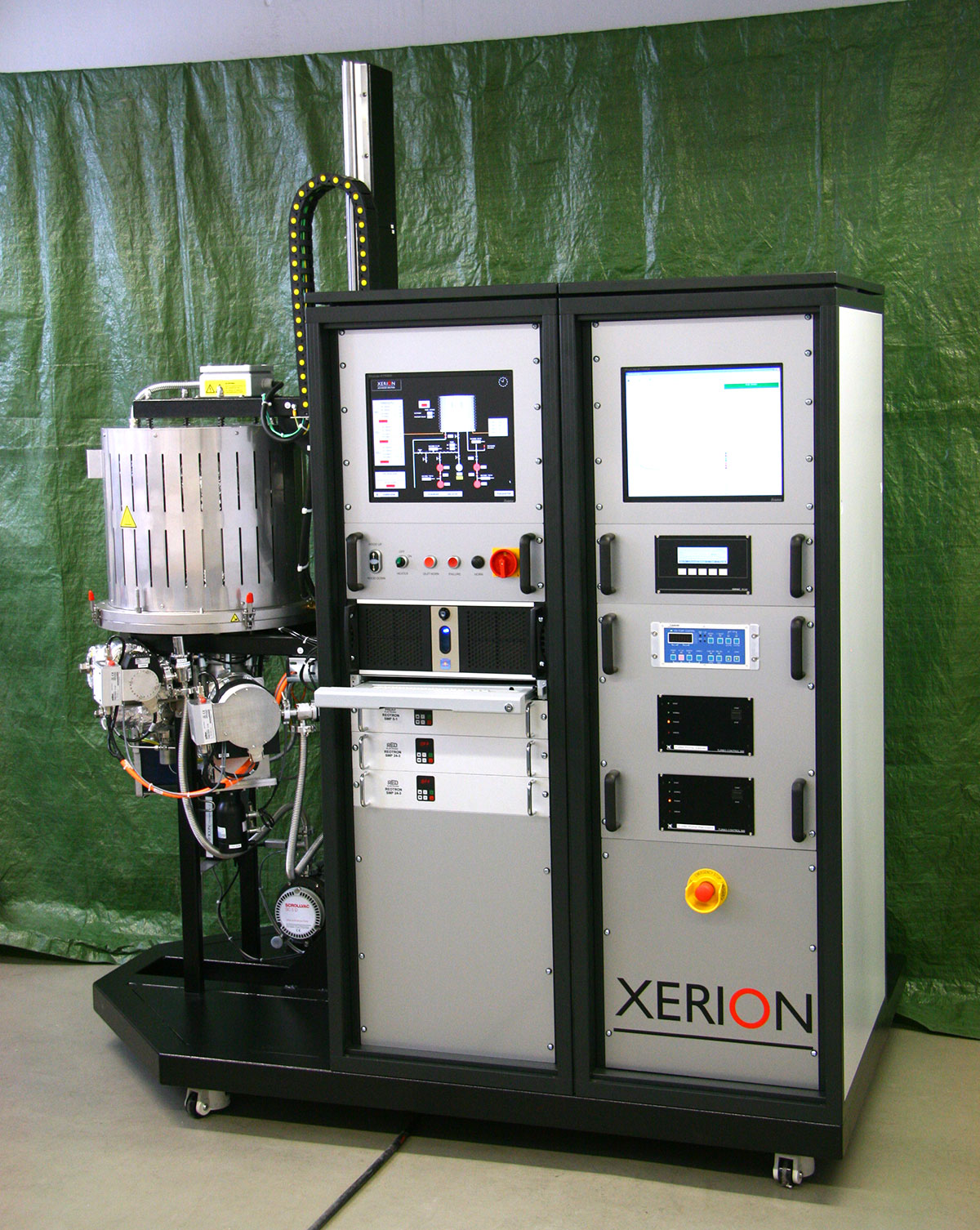 Testing system for ceramic heating elements with direct heating